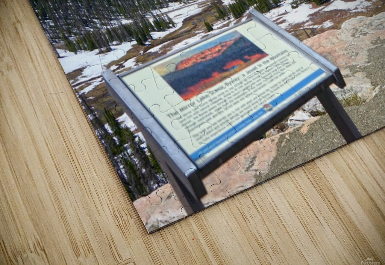 On The Road to Mirror Lake 2 of 5 HD Sublimation Metal print