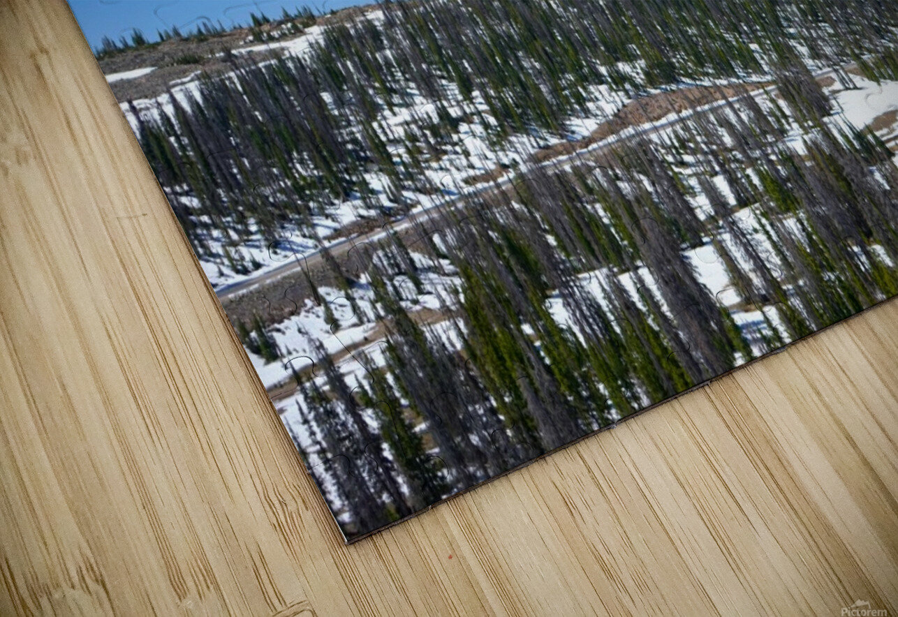 On The Road to Mirror Lake 3 of 5 HD Sublimation Metal print