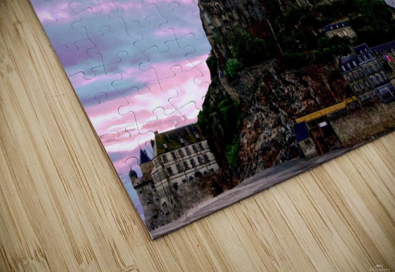 Mont St Michel at Sunset - France HD Sublimation Metal print