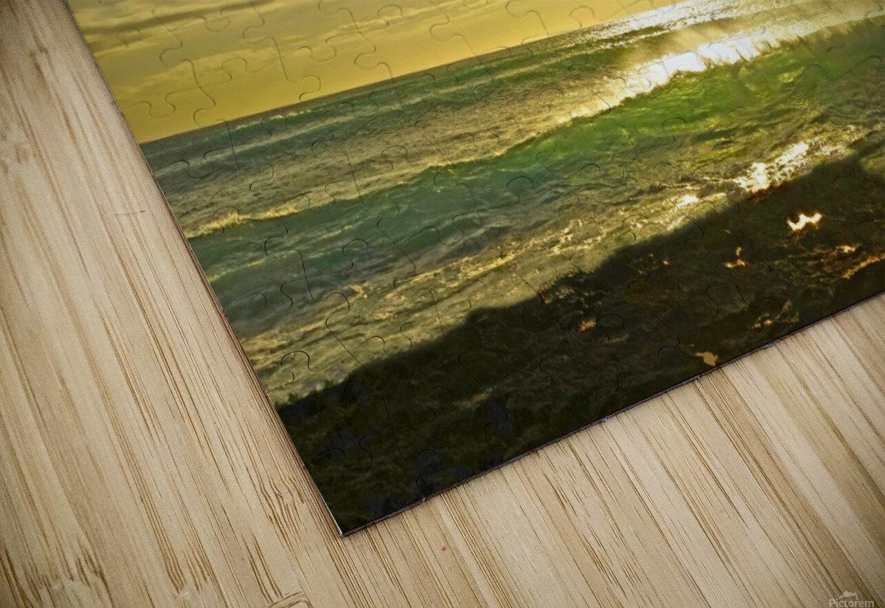 Splash - Sunset Hawaii HD Sublimation Metal print