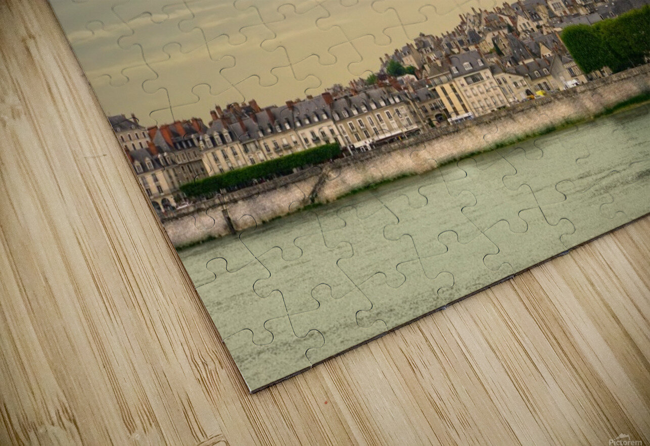 Cathedrale Saint Louis Across the Loire - Sunset France HD Sublimation Metal print