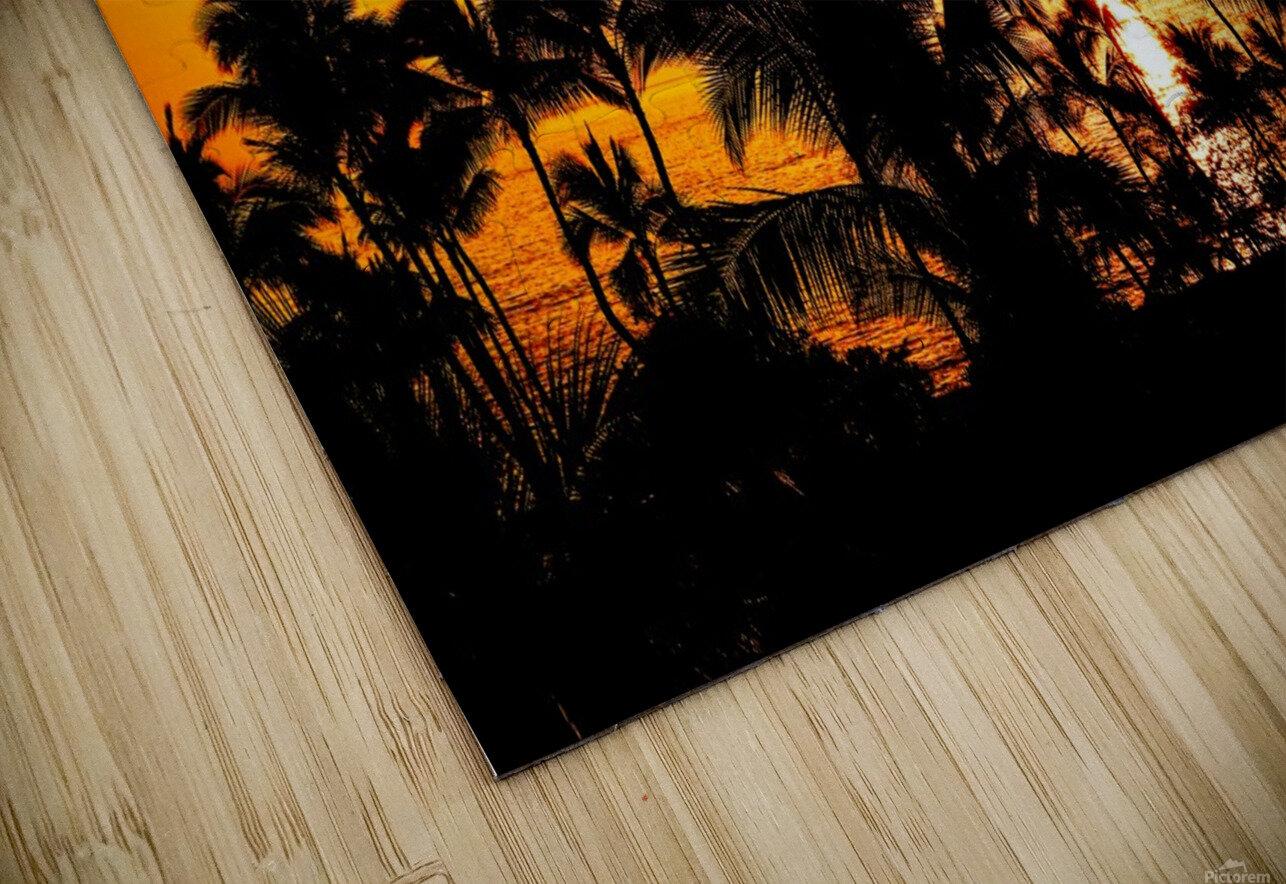 Fire in the Heavens - Sunset Hawaiian Islands HD Sublimation Metal print