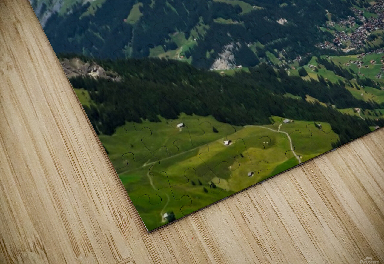 The Bernese Alps Switzerland HD Sublimation Metal print