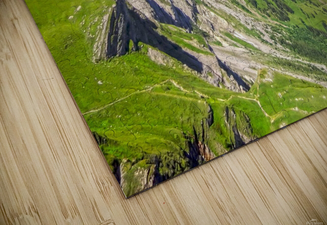Deep in the Swiss Highlands HD Sublimation Metal print