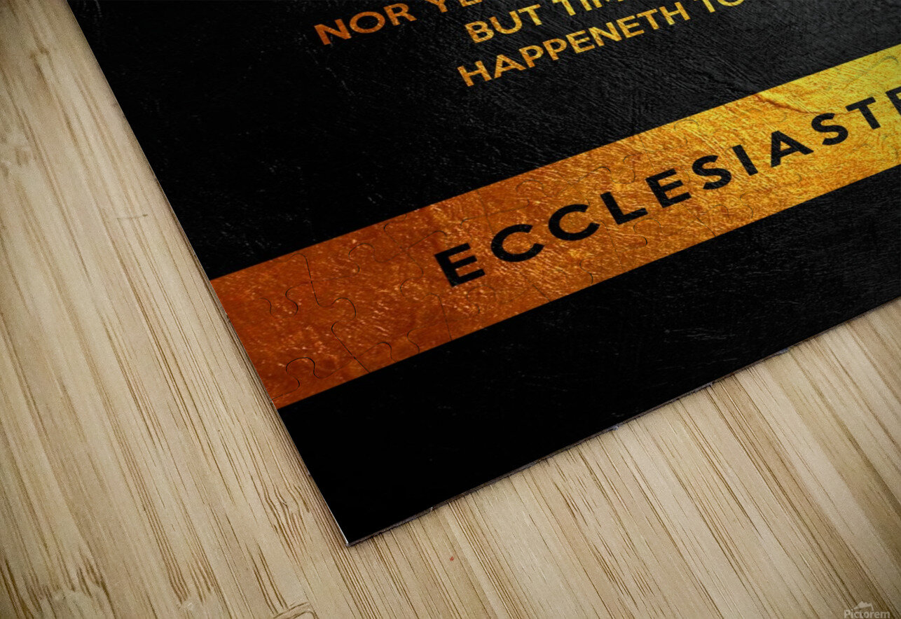 Ecclesiastes 9:11 Bible Verse Wall Art HD Sublimation Metal print