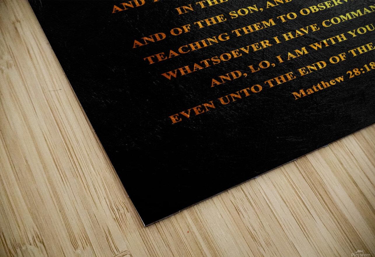 Matthew 28:18-20 Bible Verse Wall Art HD Sublimation Metal print
