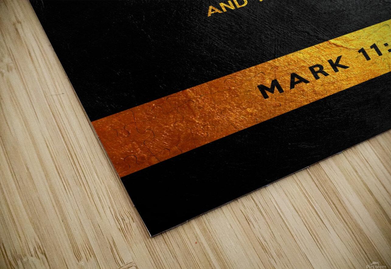 Mark 11:24 Bible Verse Wall Art HD Sublimation Metal print