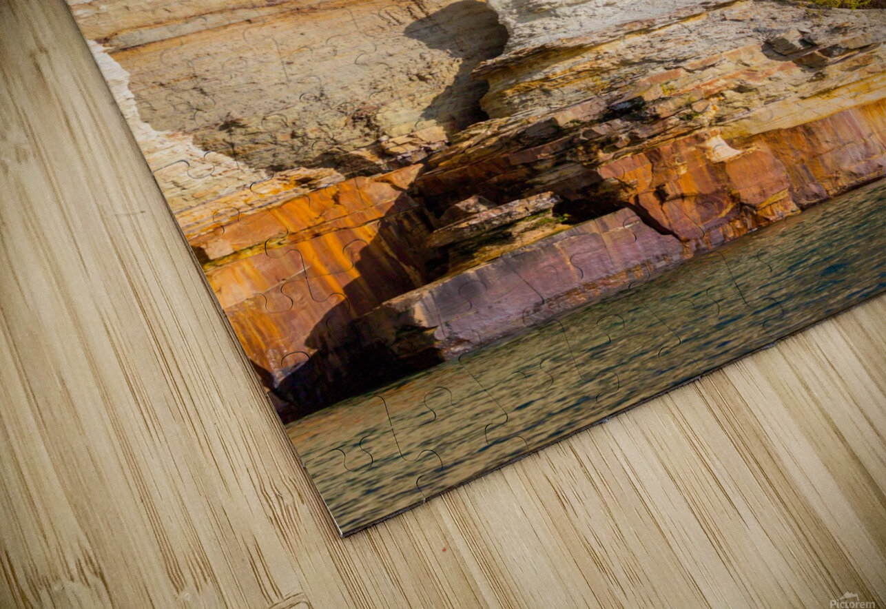 Pictured Rocks ap 2508 HD Sublimation Metal print