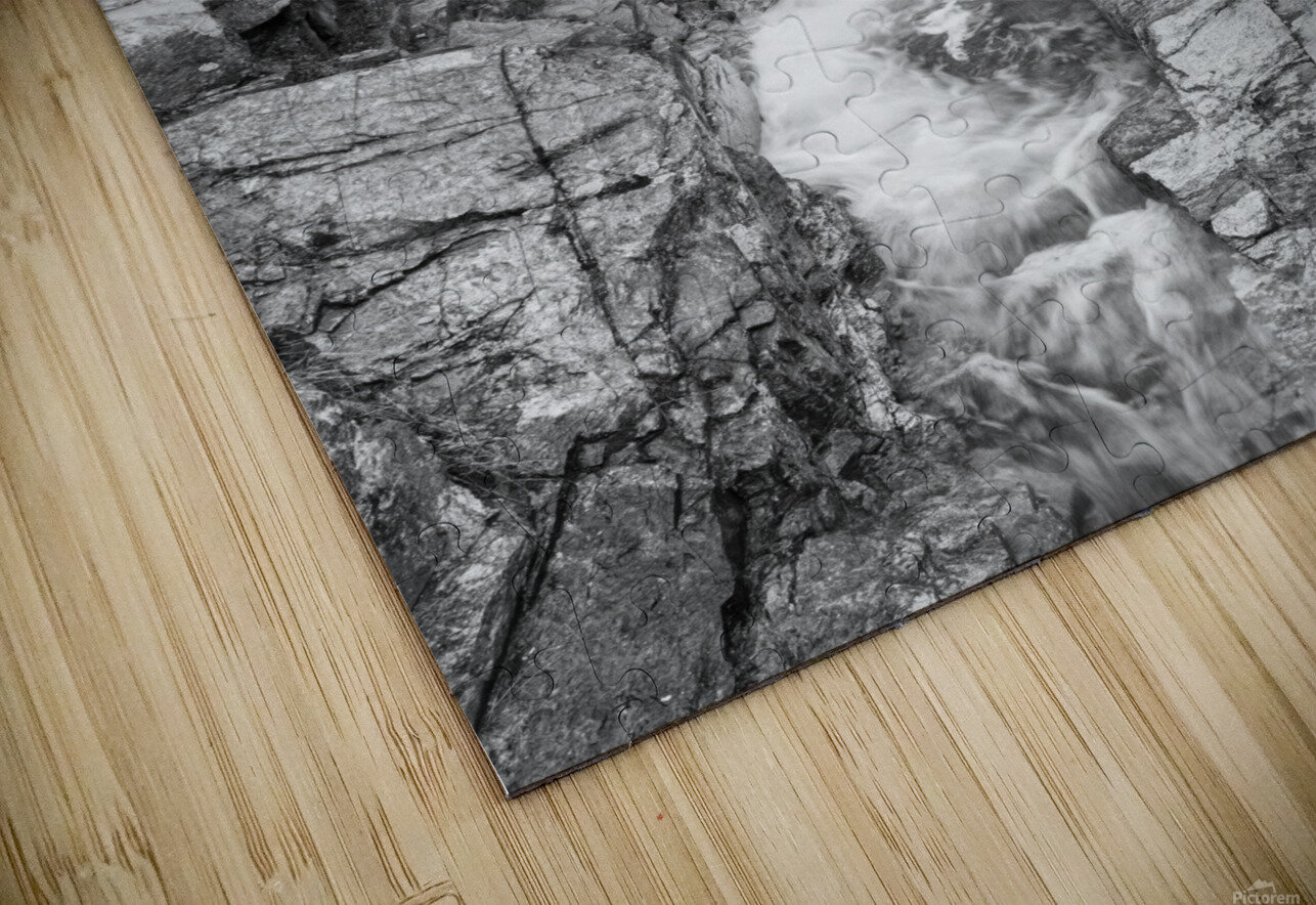 Silver Cascade Falls ap 2226 B&W HD Sublimation Metal print