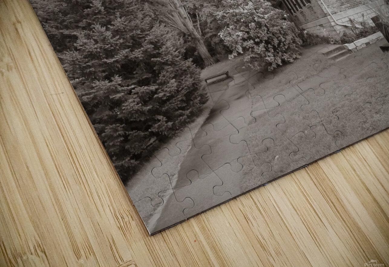 White River Light ap 2449 B&W HD Sublimation Metal print