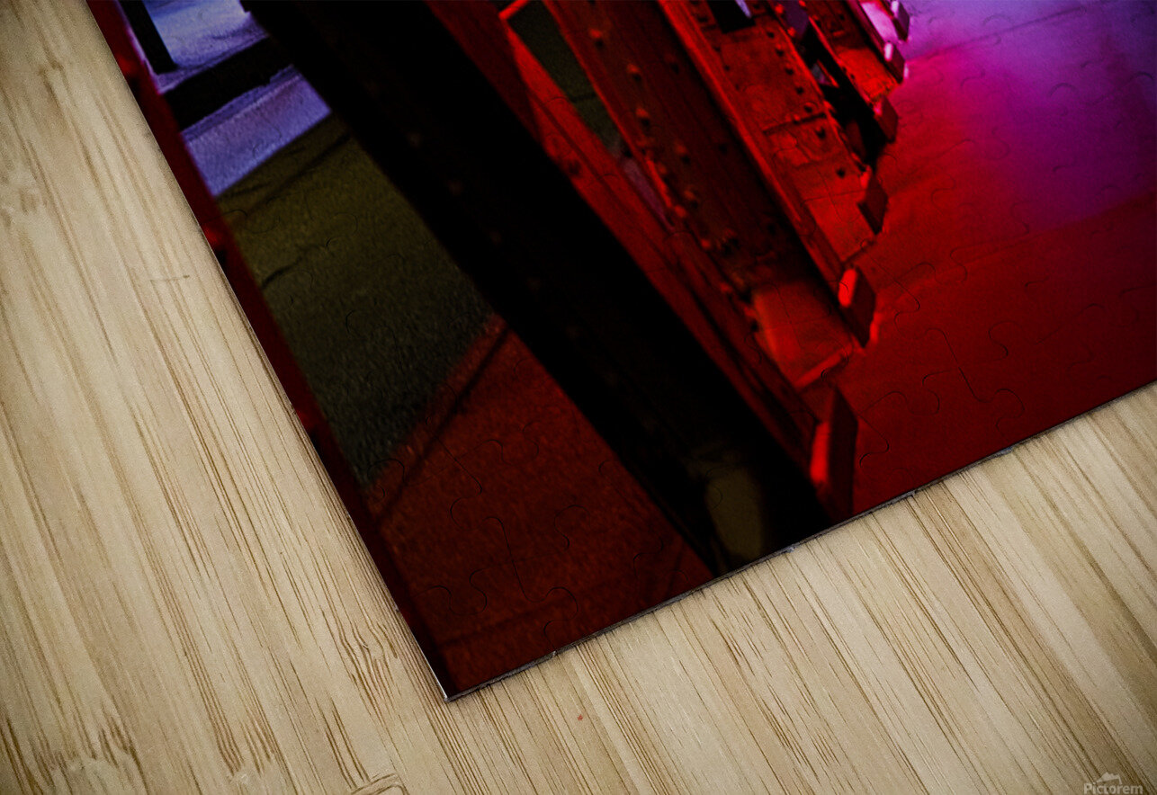 Tunnel of Red Rain HD Sublimation Metal print