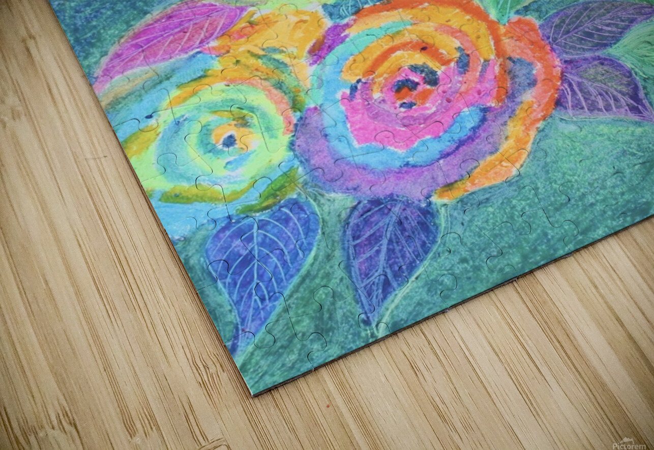 Colorful flowers HD Sublimation Metal print