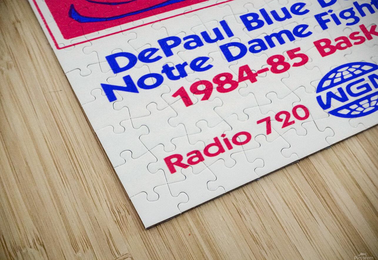 1984 DePaul Notre Dame Basketball WGN Poster HD Sublimation Metal print