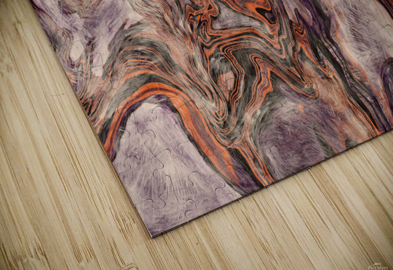Fire Fall HD Sublimation Metal print