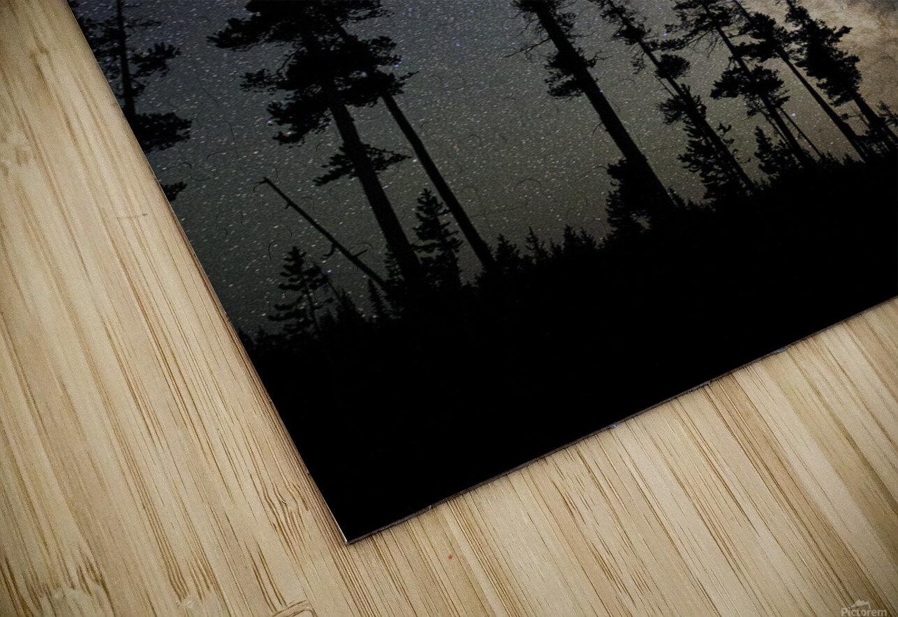 Yellowstone Milky Way HD Sublimation Metal print