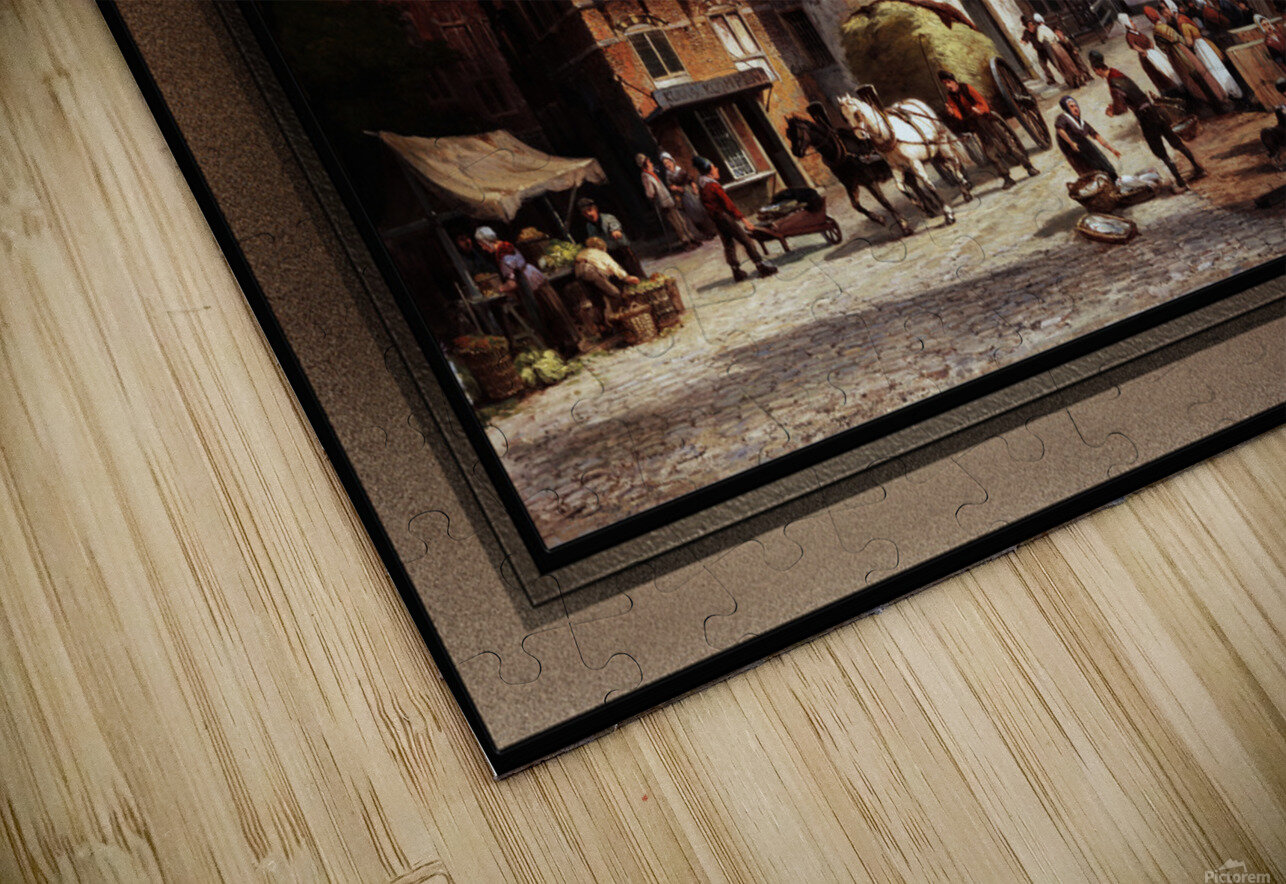 Schreierstoren by Willem Koekkoek Fine Art Old Masters Reproduction HD Sublimation Metal print