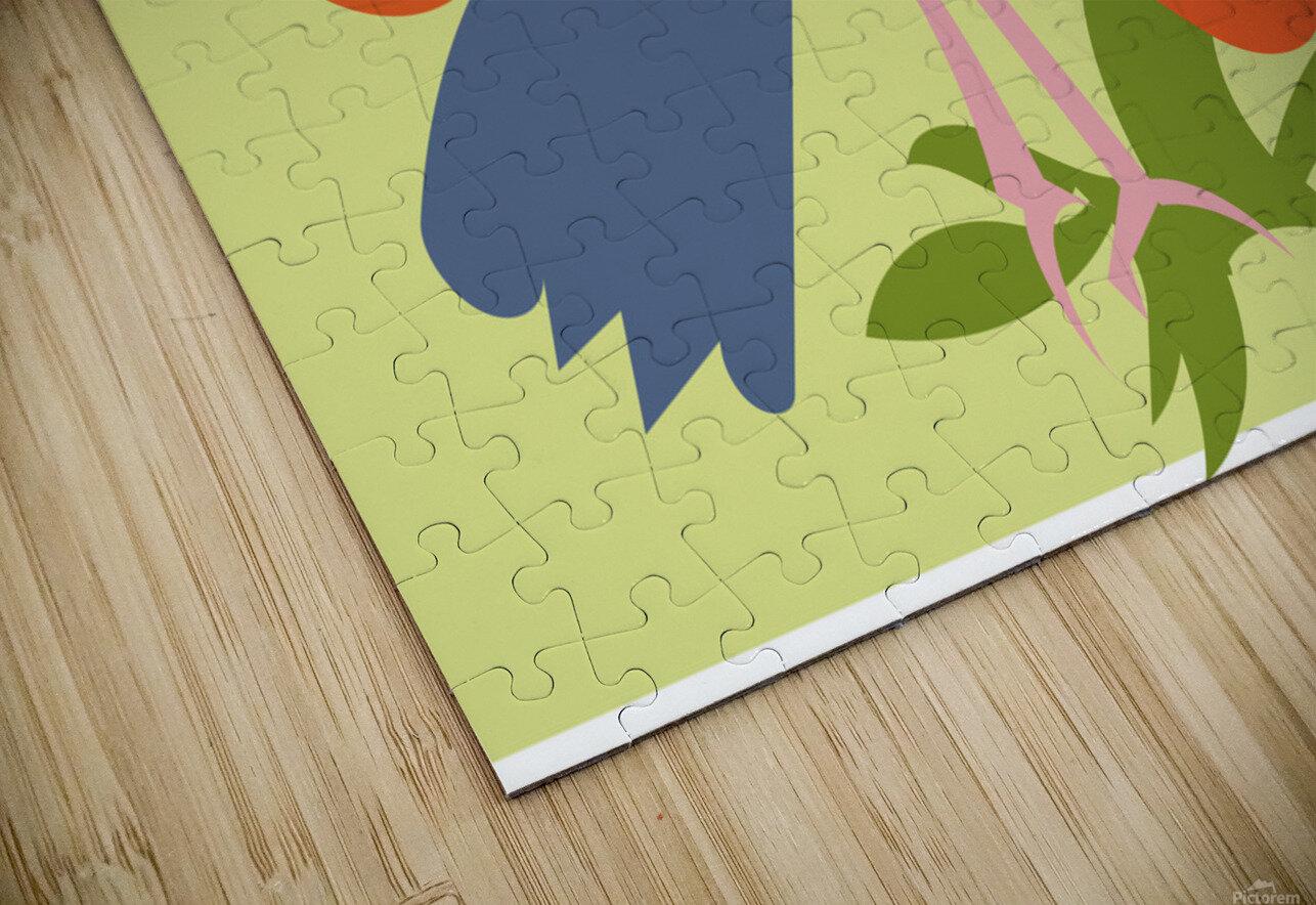 The Sarus Crane HD Sublimation Metal print