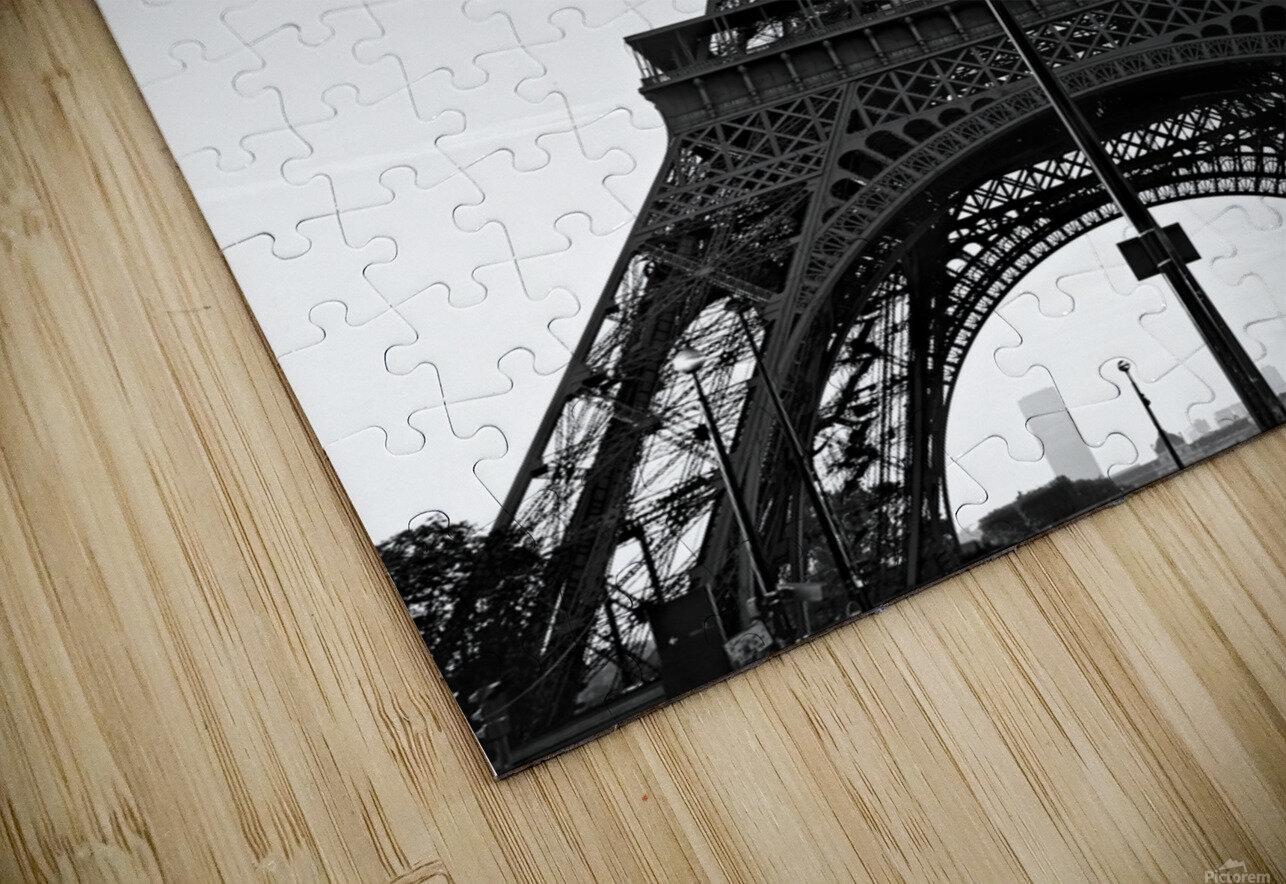 Eiffel tower in black  Impression de sublimation métal HD