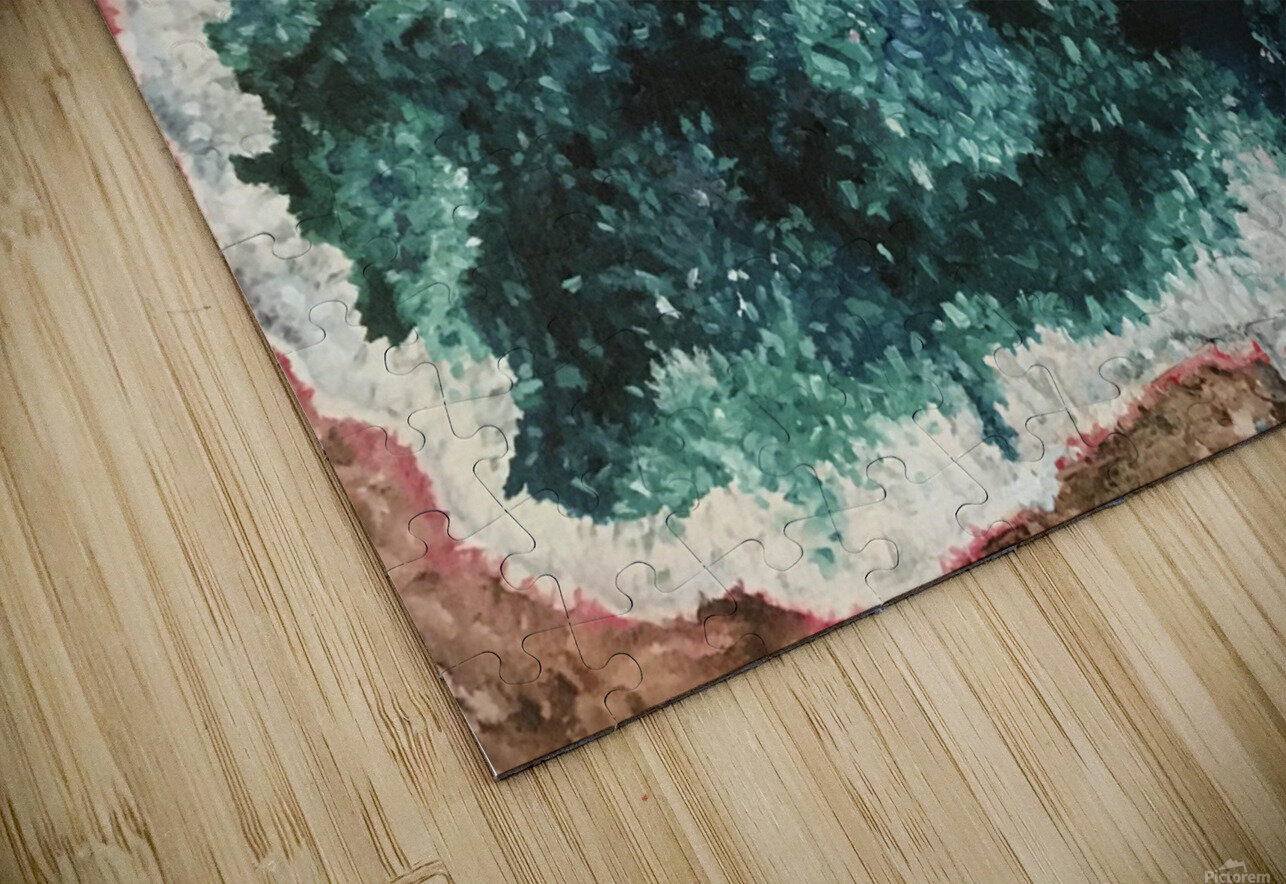 Green Geode HD Sublimation Metal print