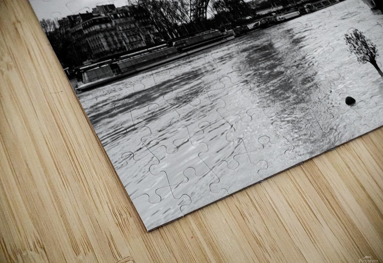 Eiffel tower flood Impression de sublimation métal HD