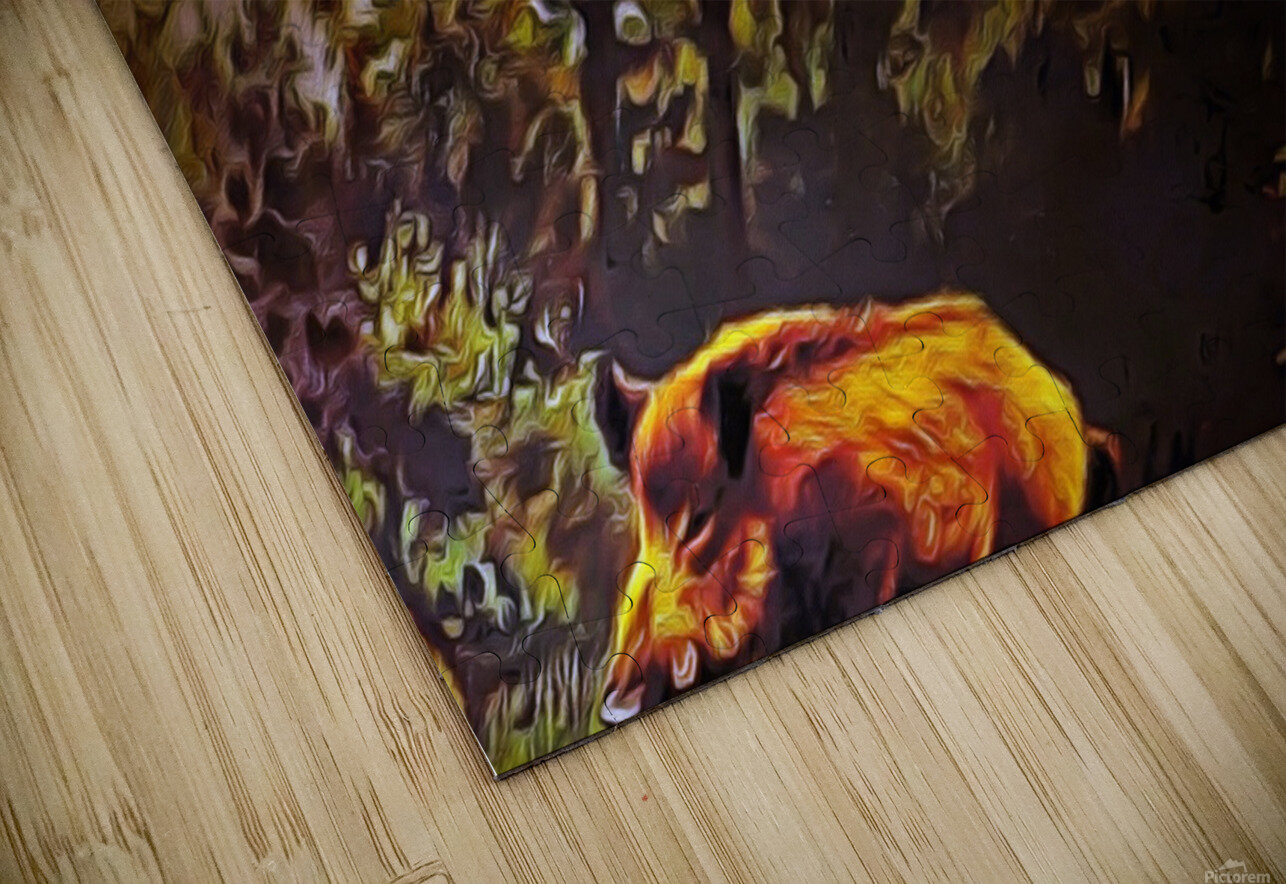 Wild Boars HD Sublimation Metal print