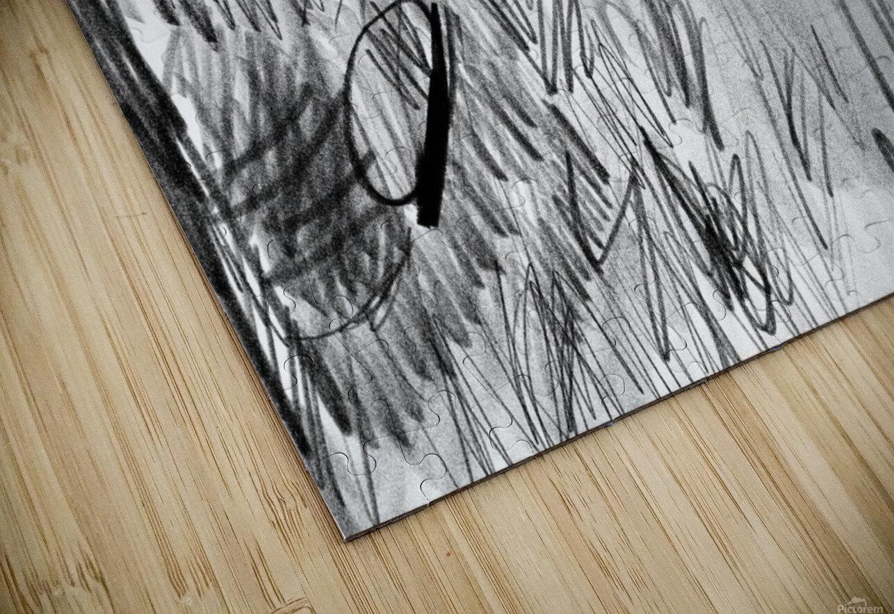 Lawn sketch HD Sublimation Metal print