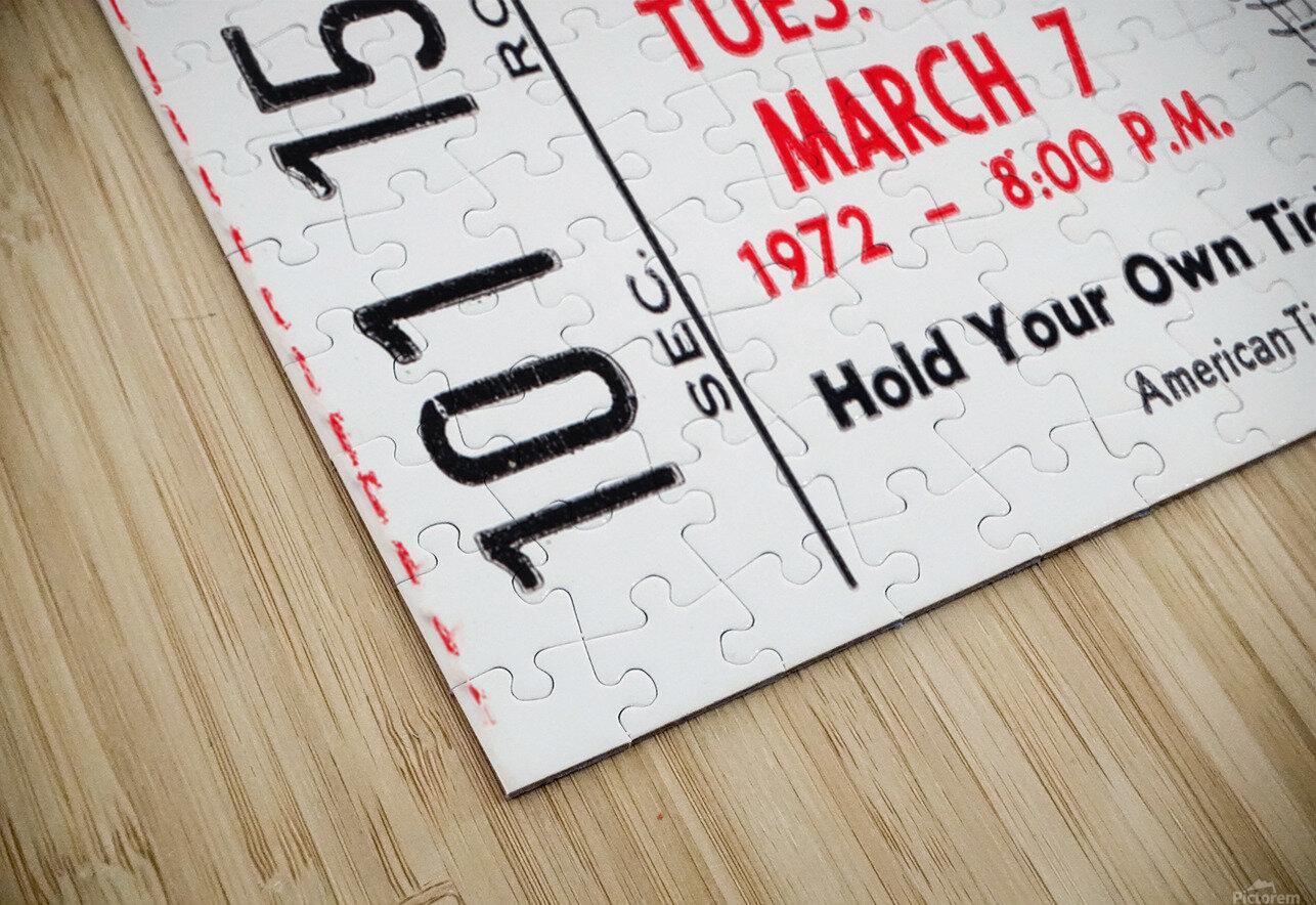 1972 Purdue Basketball Ticket Canvas HD Sublimation Metal print