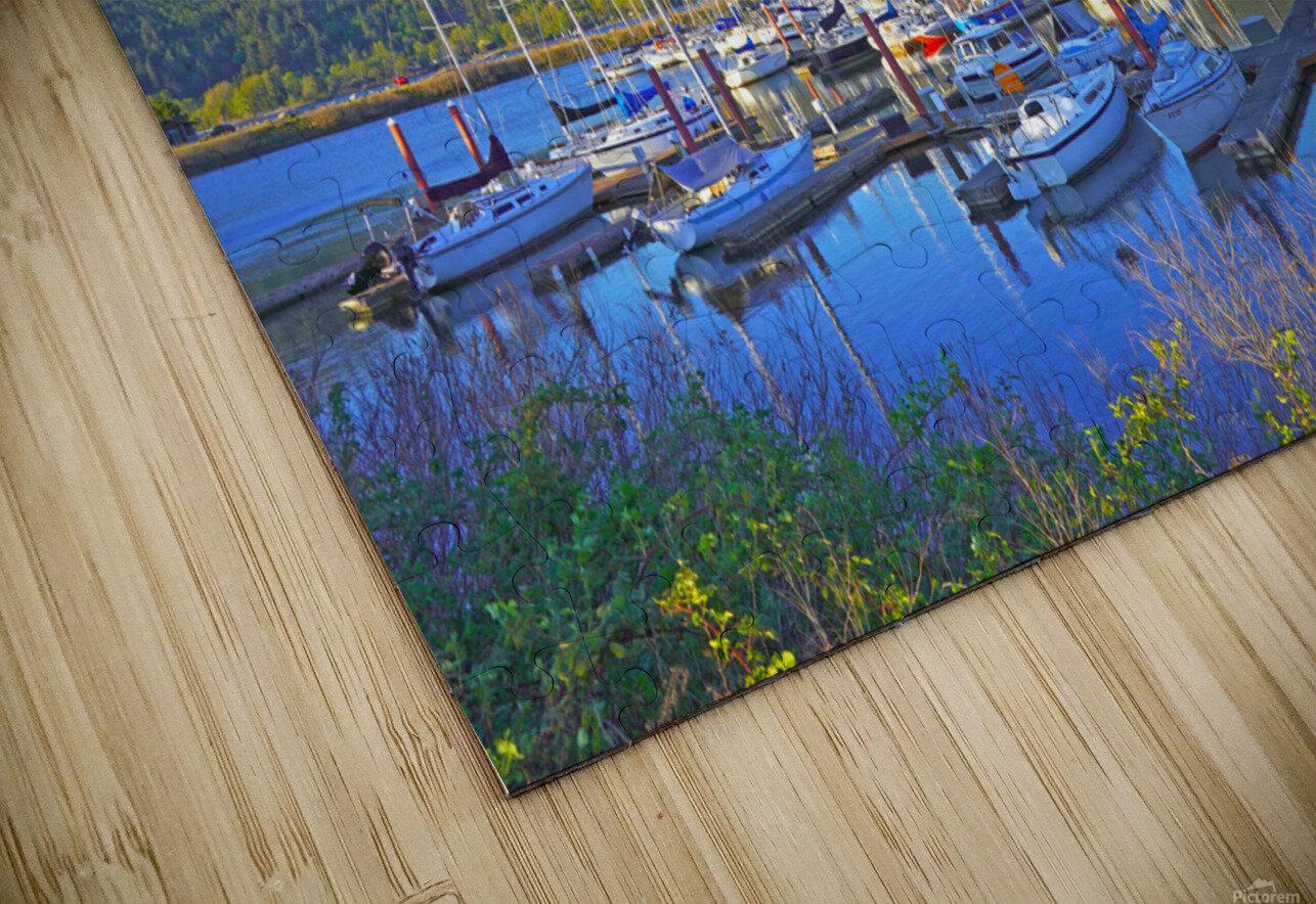 Perfect Day at Hood River Marina   Oregon HD Sublimation Metal print