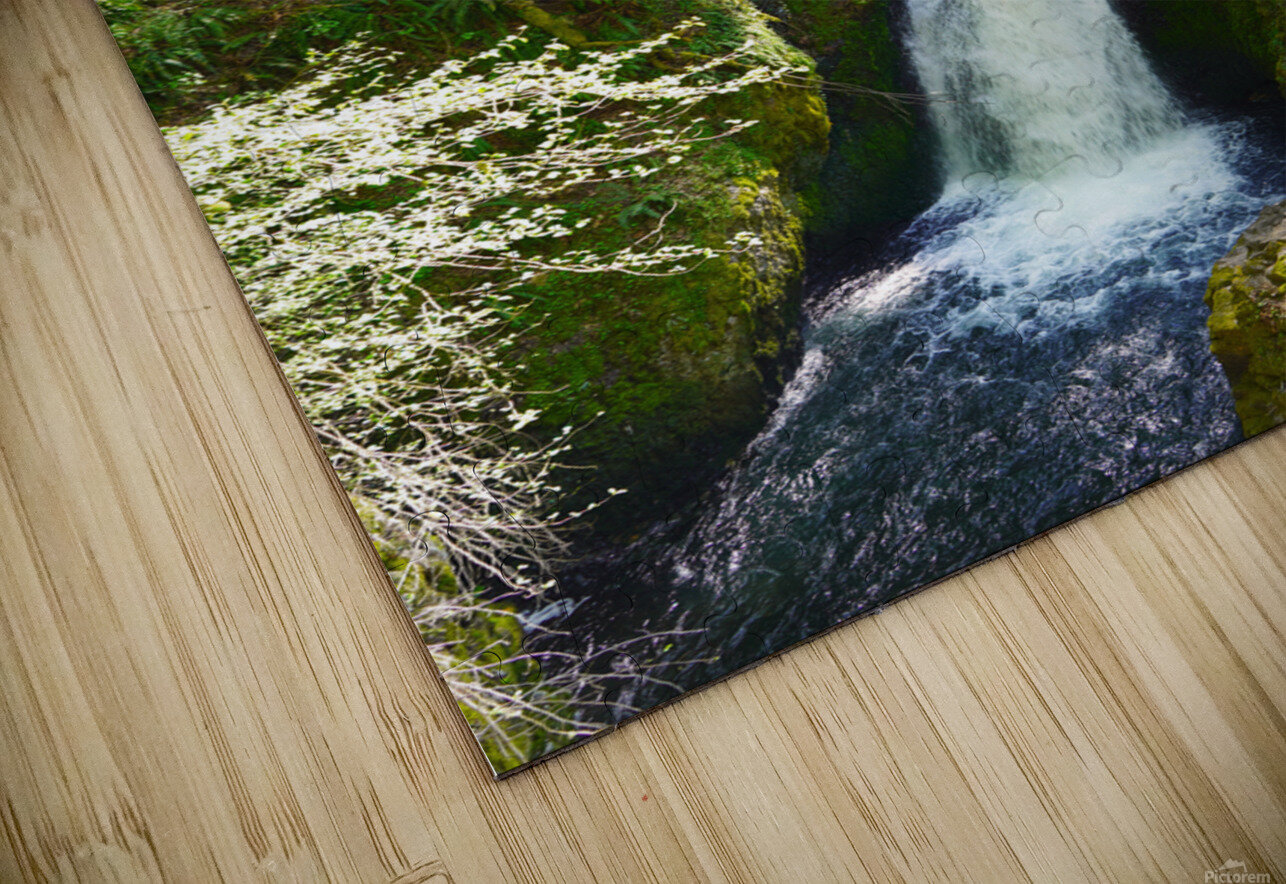 Falls in The Gorge 2   Columbia River Oregon HD Sublimation Metal print
