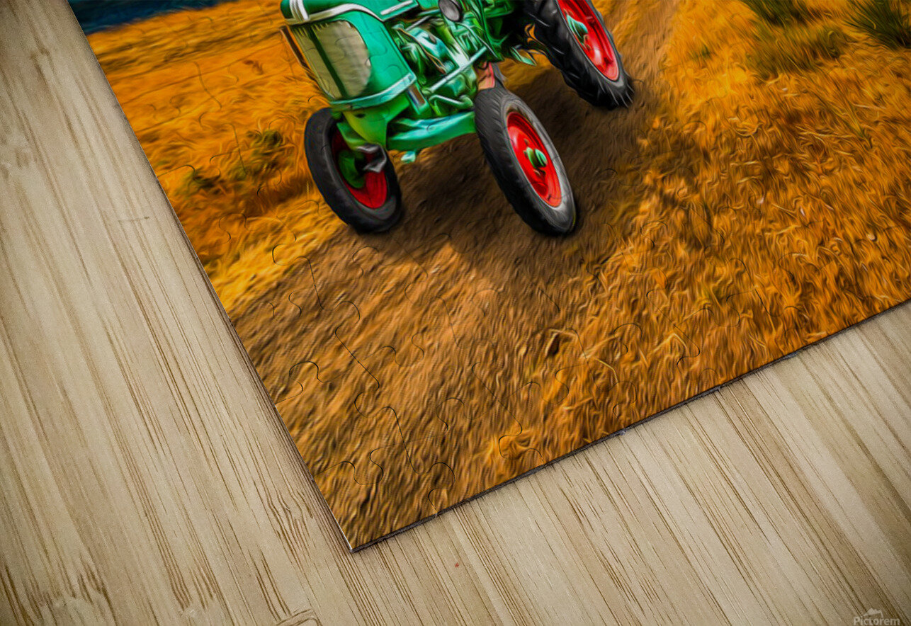My Green Tractor HD Sublimation Metal print
