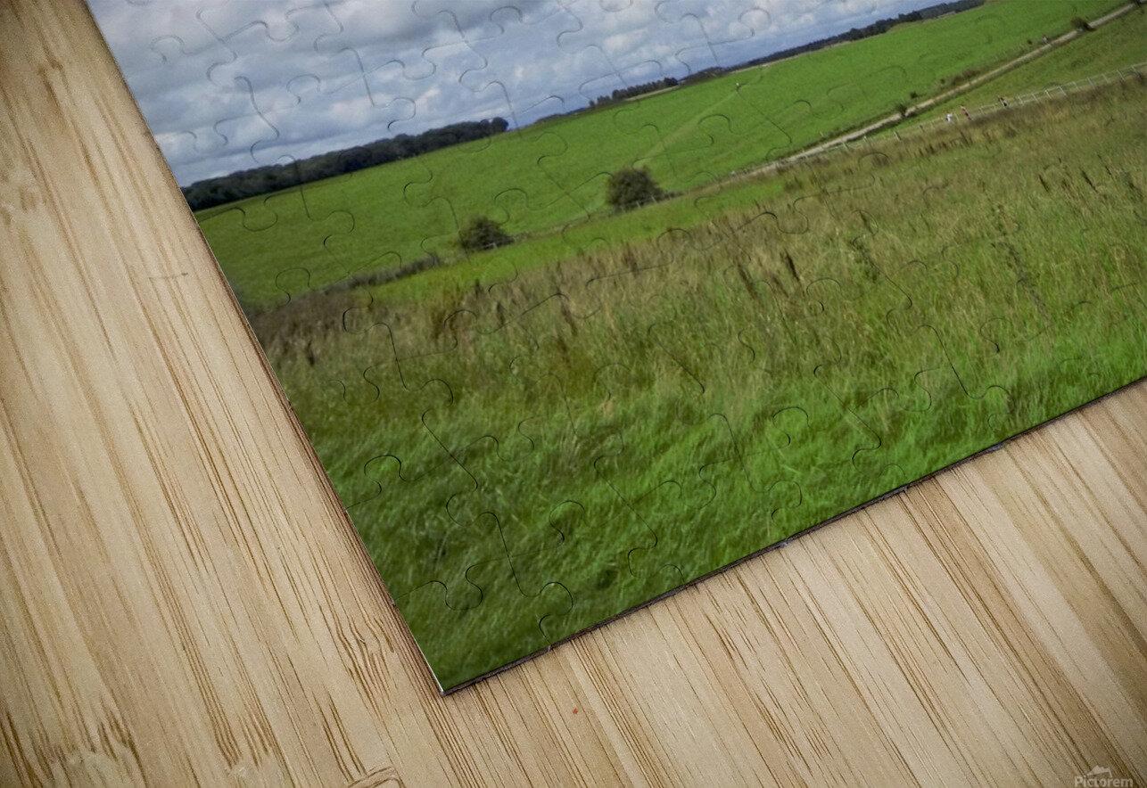 Salisbury Plain on the Road to Stonehenge HD Sublimation Metal print