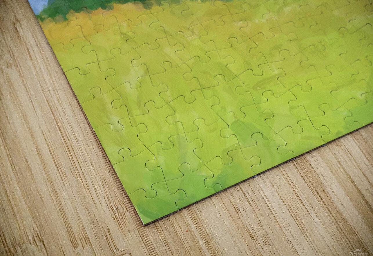 Parkton Landscape in Spring Green HD Sublimation Metal print