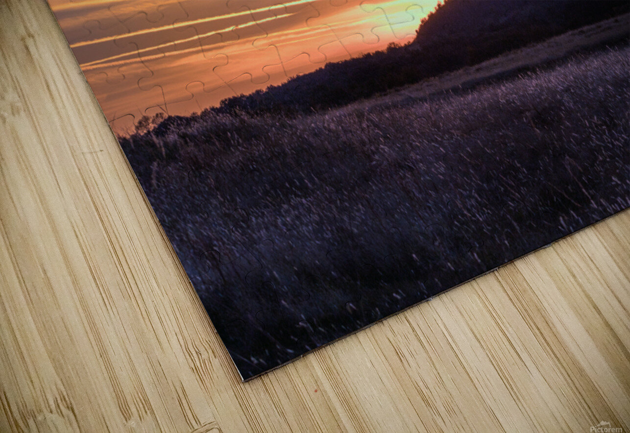 Table Top Mountain Sunset HD Sublimation Metal print