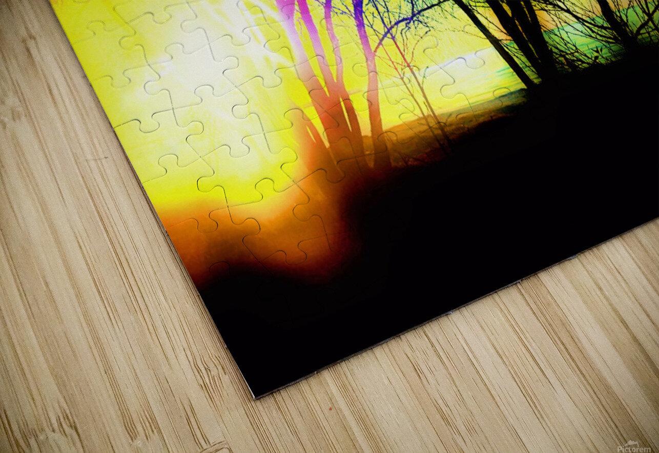 Evening tree HD Sublimation Metal print