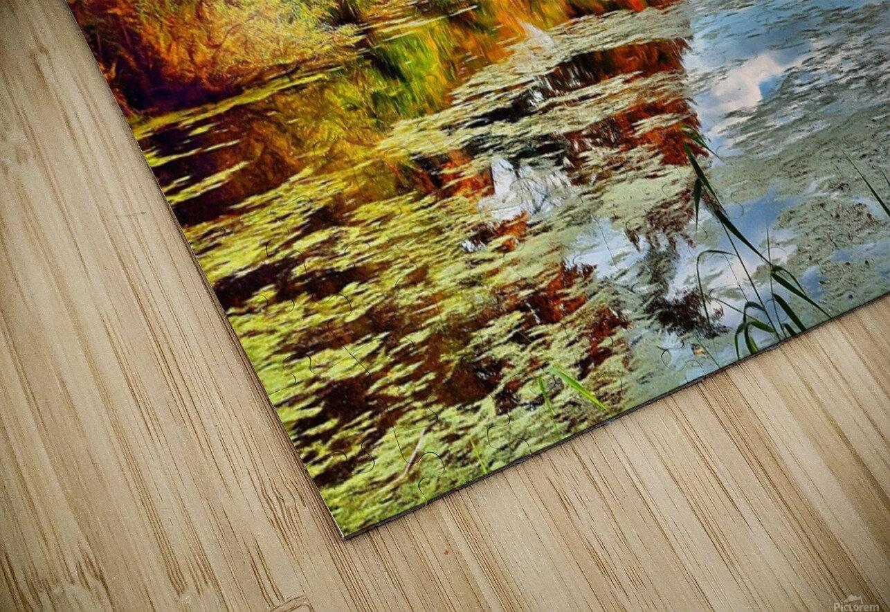 Autumn River HD Sublimation Metal print