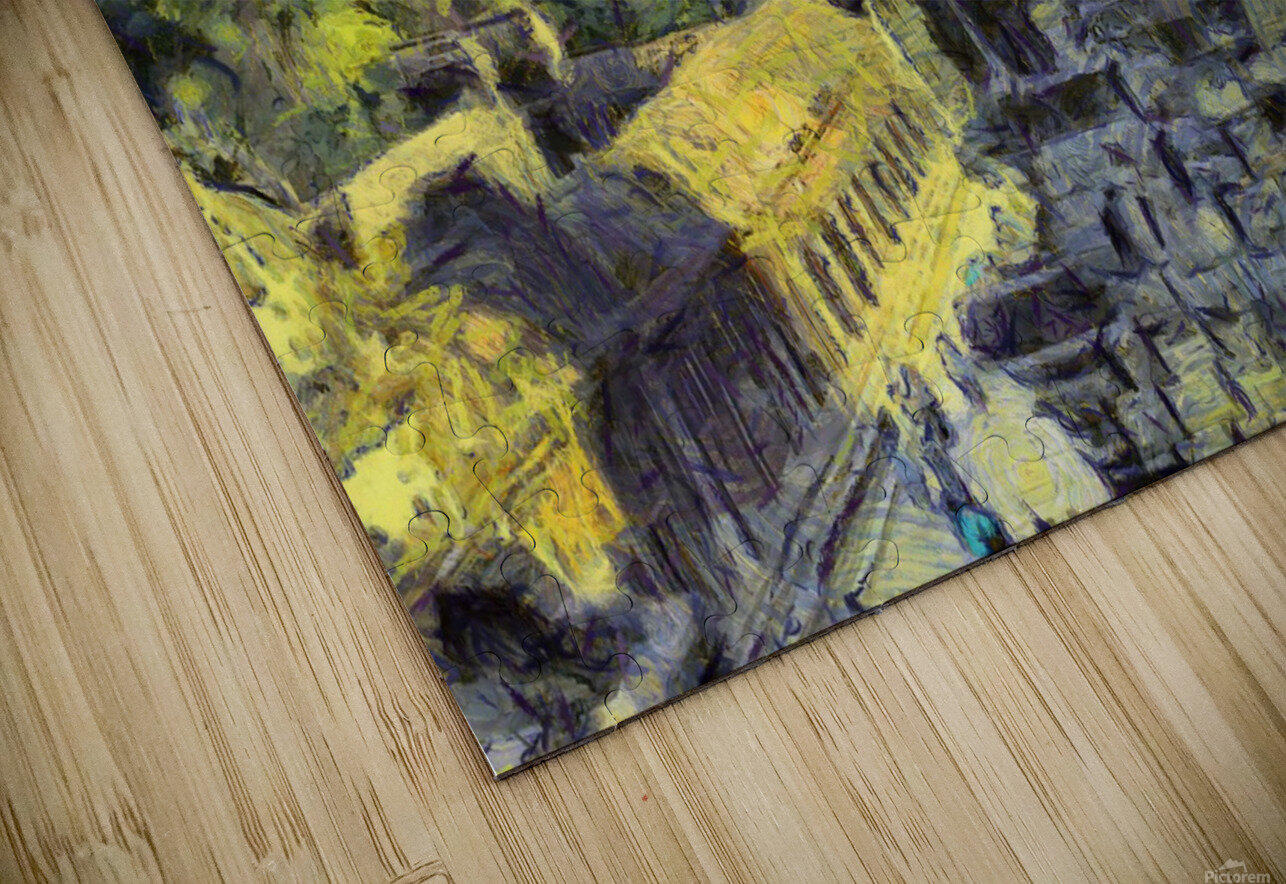 CAMBODIA Angkor Wat oil painting in Vincent van Gogh style. 130 HD Sublimation Metal print