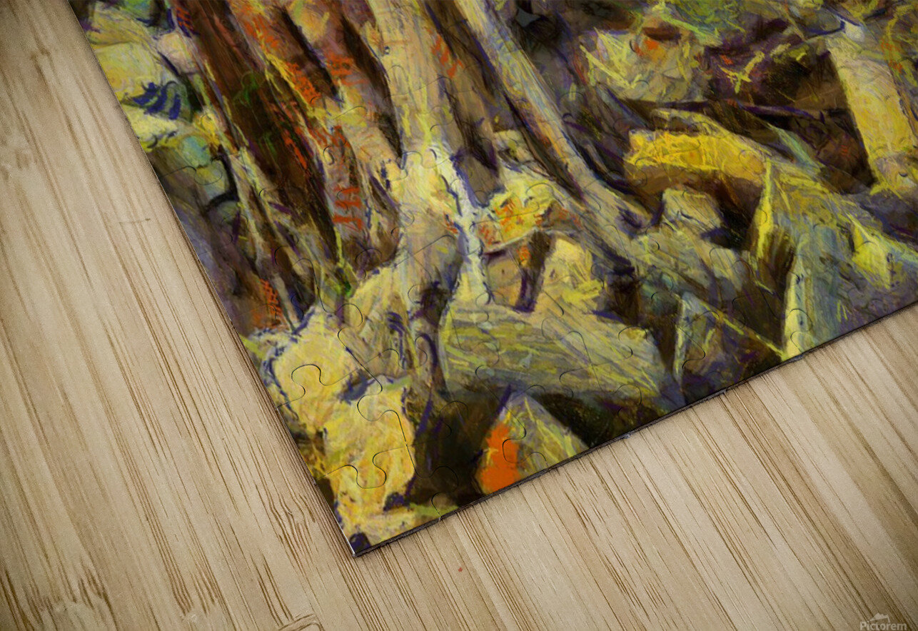 CAMBODIA Angkor Wat oil painting in Vincent van Gogh style. 148 HD Sublimation Metal print