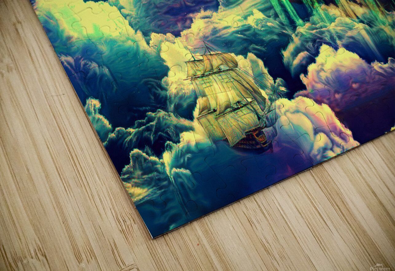 Castle In The Clouds HD Sublimation Metal print