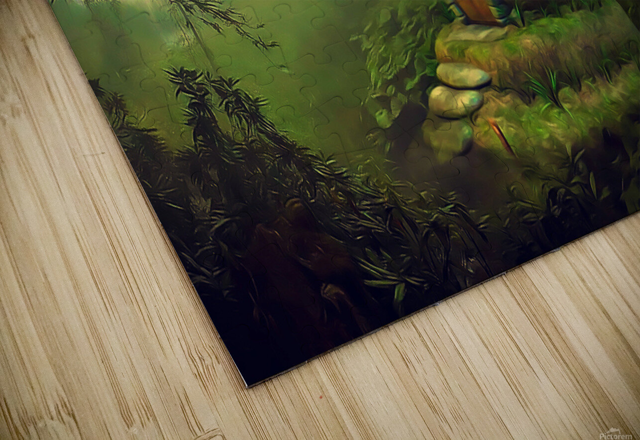 Mushroom Cottage HD Sublimation Metal print