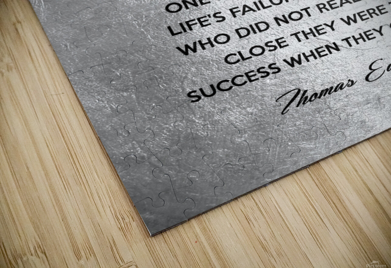 Thomas Edison Motivational Wall Art HD Sublimation Metal print