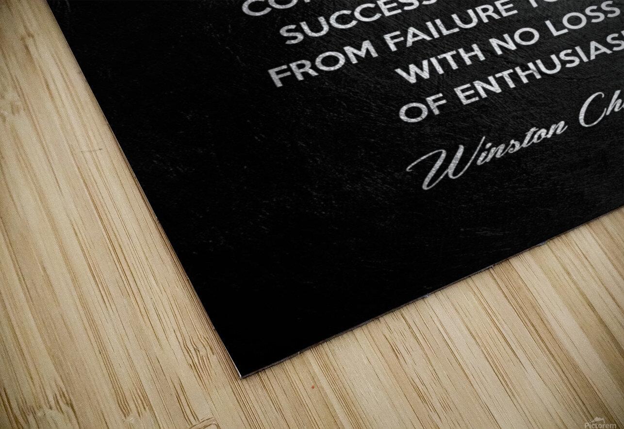 Winston Churchill Motivational Wall Art HD Sublimation Metal print