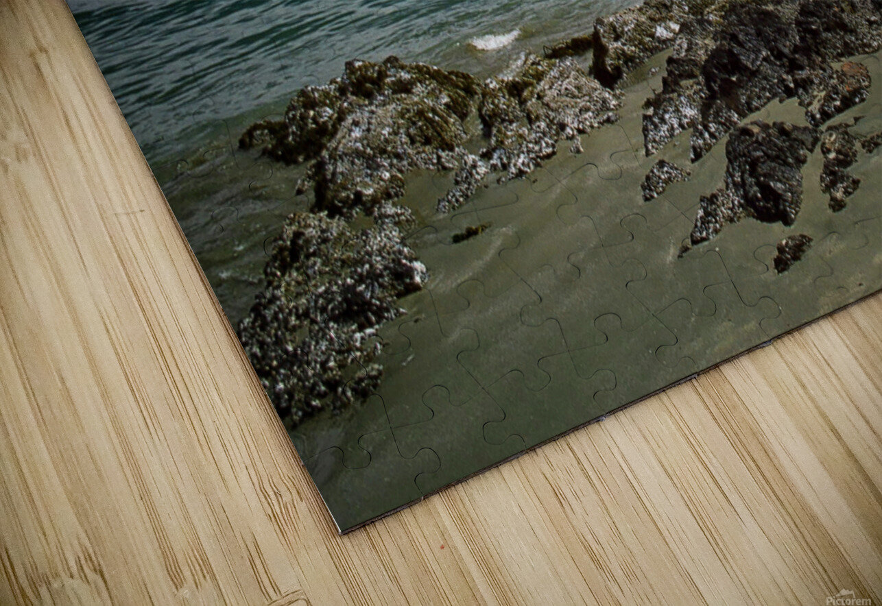Peaceful Pacific Beach HD Sublimation Metal print