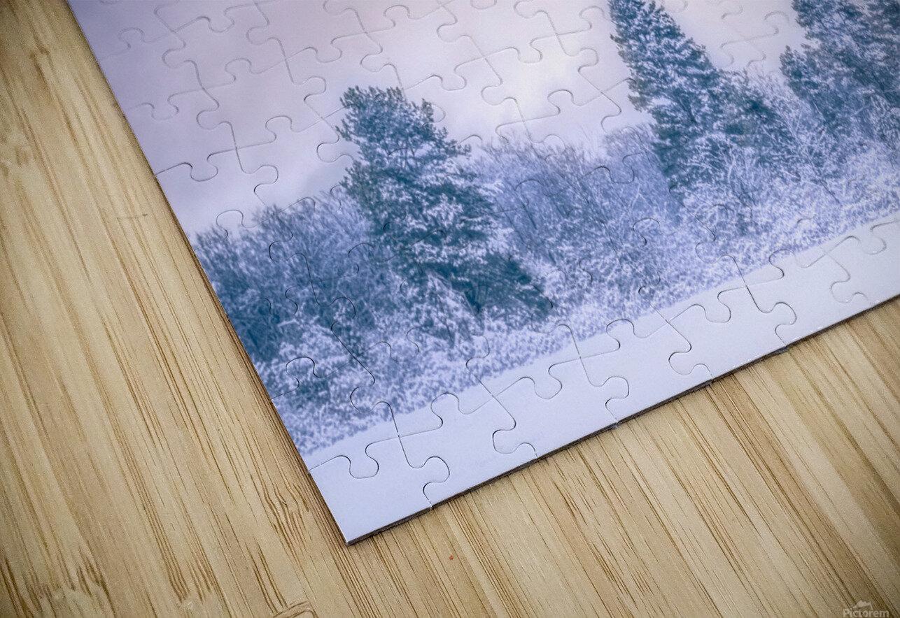 Winter landscape HD Sublimation Metal print
