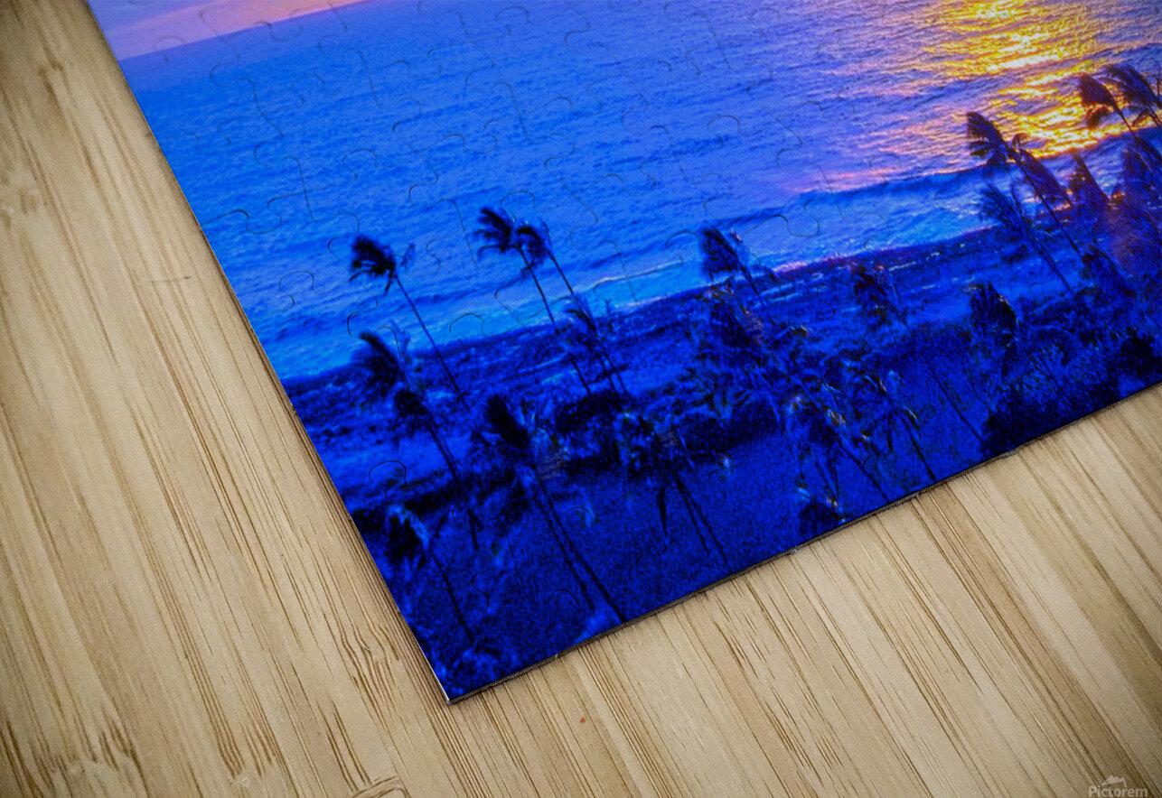 Rainbow Sunset in the Tropics   Hawaii HD Sublimation Metal print