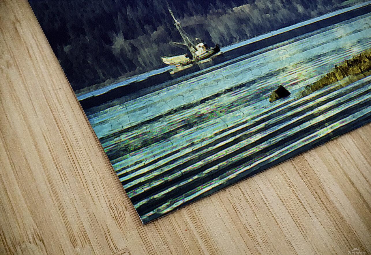 Comox Glacier and Herring Boat HD Sublimation Metal print