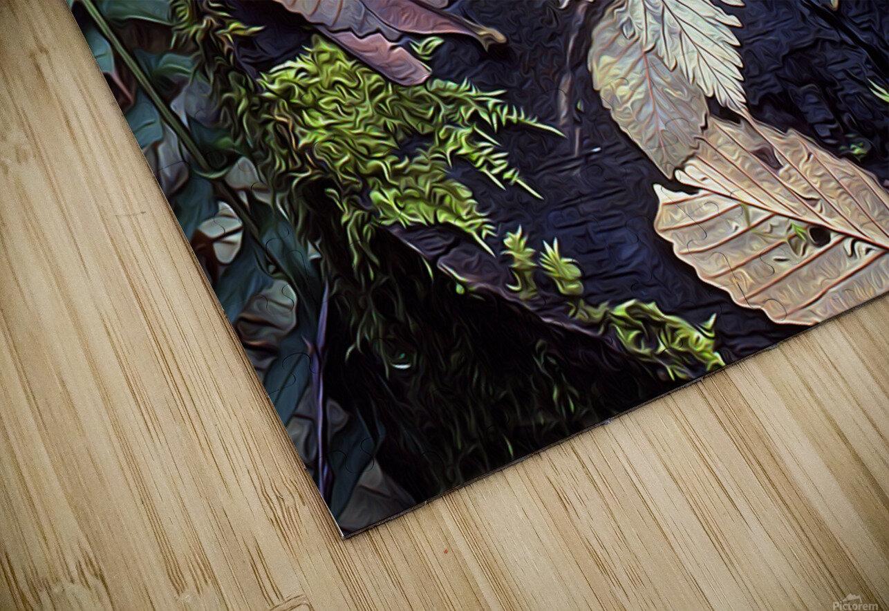 Mossy Stump HD Sublimation Metal print