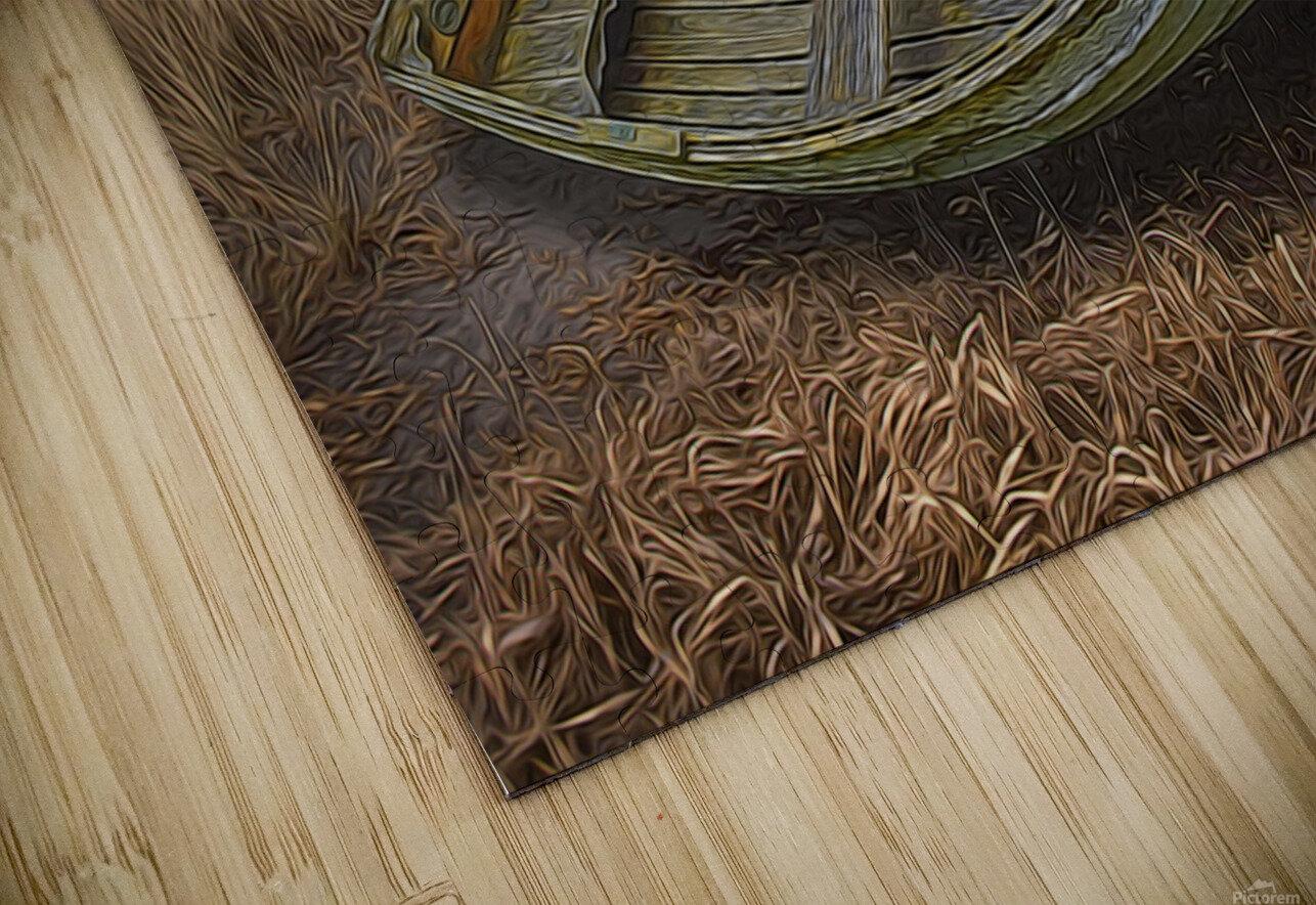 Clinker-built Rowboat HD Sublimation Metal print