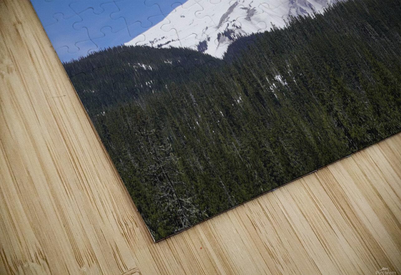 Blue Skies over Mount Hood HD Sublimation Metal print