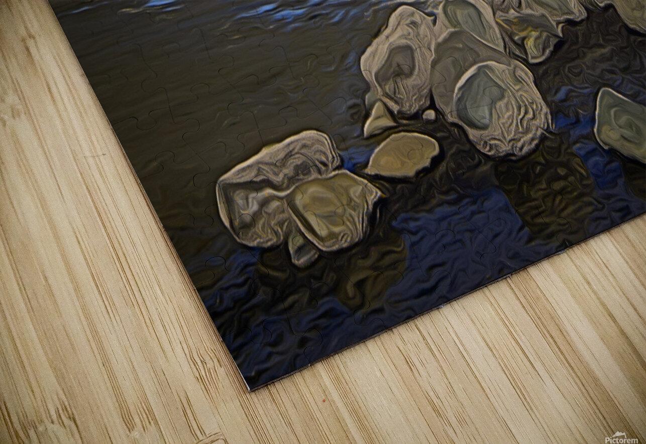 Boulders at Low Tide HD Sublimation Metal print