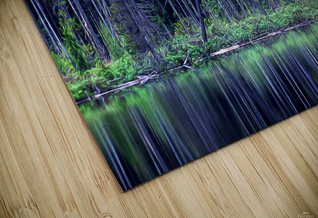 Forest by the Lake HD Sublimation Metal print